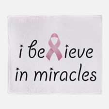 i believe in miracles Throw Blanket