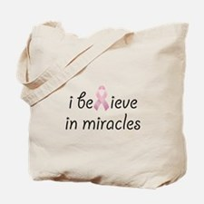 i believe in miracles Tote Bag