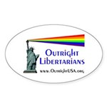 Outright Libertarians Sticker (Oval)