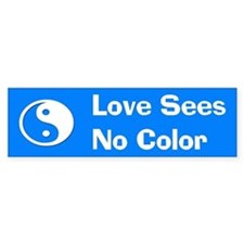 Love Sees No Color Bumper Bumper Sticker