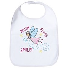 Brush Floss Smile Bib
