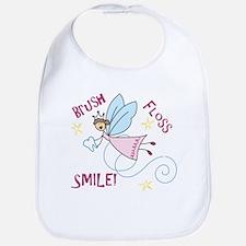 Brush Floss Smile Bib