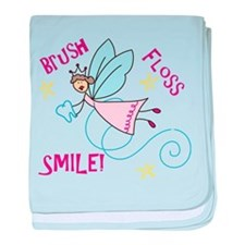 Brush Floss Smile baby blanket