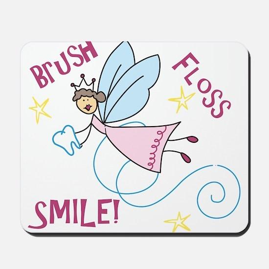 Brush Floss Smile Mousepad