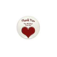 Thank You Heart Mini Button (10 pack)