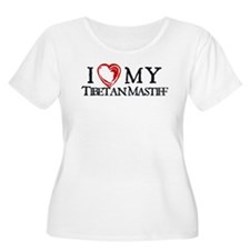 I Heart My Tibetan Mastiff T-Shirt
