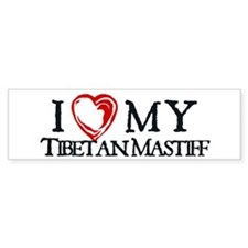 I Heart My Tibetan Mastiff Bumper Sticker