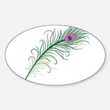 Green Peacock Feather Decal
