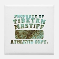 Property of Tibetan Mastiff Tile Coaster