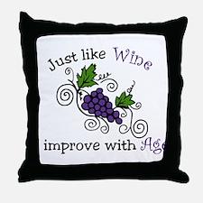 Wine Grape Vines Throw Pillow