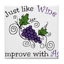 Wine Grape Vines Tile Coaster