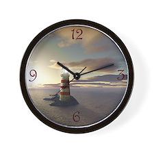 Lighthouse at Sunrise Wall Clock