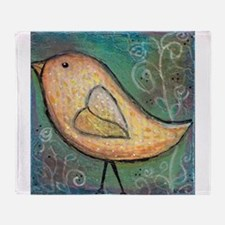 Summer Bird Throw Blanket