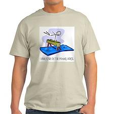 Pommel Horse Stick Figure Ash Grey T-Shirt