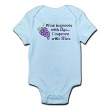 Wine Improves With Age Infant Bodysuit