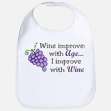 Wine Improves With Age Bib