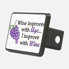Wine Improves With Age Hitch Cover