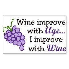 Wine Improves With Age Decal