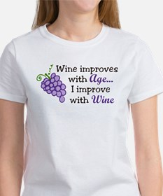Wine Improves With Age Women's T-Shirt