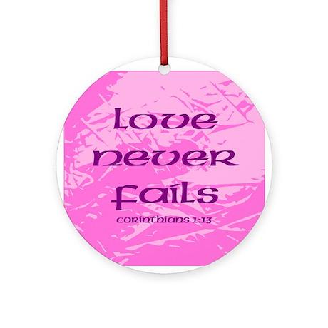 Love Never Fails Christmas Tree Ornament