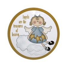 Angels Are The Treasures Christmas Tree Ornament