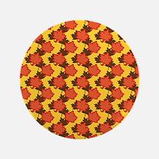 "Orange Autumn Leaves 3.5"" Button (100 pack)"