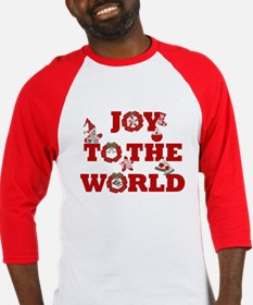 Joy To The World Christmas Baseball Jersey