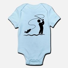 Fly Fishing Infant Bodysuit