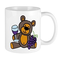 Wine Teddy Bear Mug