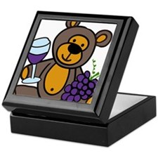 Wine Teddy Bear Keepsake Box