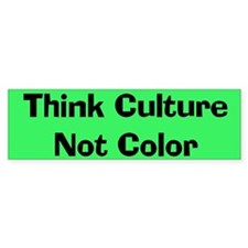 Think Culture Bumper Bumper Sticker
