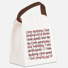 I love skydiving.png Canvas Lunch Bag