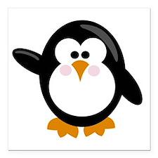 """Penguin Square Car Magnet 3"""" x 3"""""""