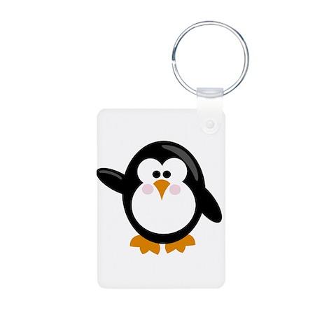 Penguin Aluminum Photo Keychain