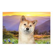 Shiba Inu Meadow Postcards (Package of 8)