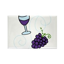 Wine Glass Rectangle Magnet