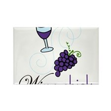 Wine Chick Rectangle Magnet