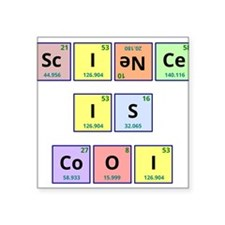 """Science is Cool Square Sticker 3"""" x 3"""""""