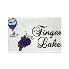 Finger Lakes Rectangle Magnet