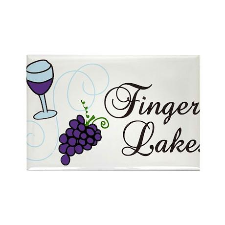Finger Lakes Rectangle Magnet