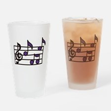 Music Notes Drinking Glass