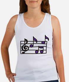 Music Notes Women's Tank Top