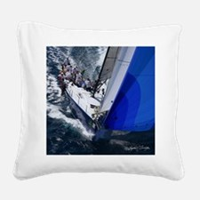 St. Thomas Racing Square Canvas Pillow