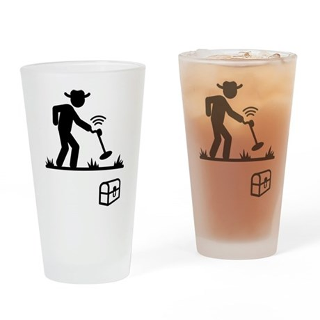 Metal Detecting Drinking Glass
