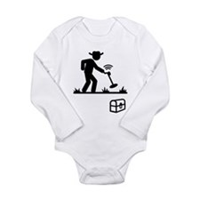 Metal Detecting Long Sleeve Infant Bodysuit