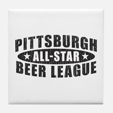 Pittsburgh Beer League Tile Coaster