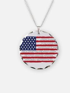 Pledge American flag color G Necklace