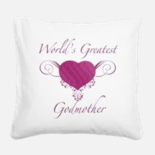 World's Greatest Godmother (Heart) Square Canvas P