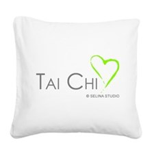 2-taichi heart 3-middle.png Square Canvas Pillow