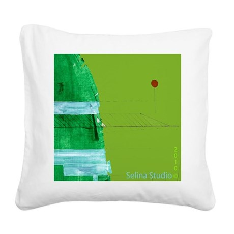 Green hill 10x10_2010.png Square Canvas Pillow